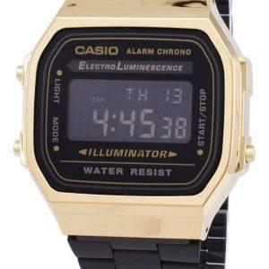 Montre unisexe Casio Vintage chronographe alarme numérique A168WEGB-1 b