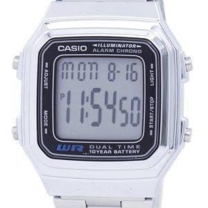 Casio Digital inox alarme Chrono Dual Time A178WA-1ADF A178WA-1 a montre homme