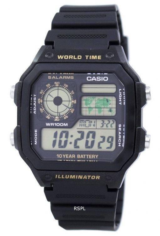 Jeunesse de Casio série digimonde temps AE-1200WH-1BVDF AE-1200WH-1BV montre homme
