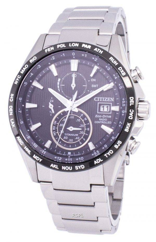 Citizen Eco-Drive Radio Controlled Chronograph AT8154-82F montre homme