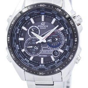 Casio Edifice Chronograph solaire dure monde temps EQS-500DB-1 a 1 EQS500DB-1 a 1 montre homme