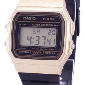 Montre unisexe Casio Vintage Chronographe Quartz alarme F91WM de F-91WM-9 a-9 a