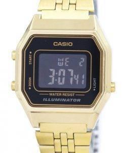 Montre Casio Digital Quartz en acier inoxydable illuminateur LA680WGA-1BDF LA680WGA-1 b féminin