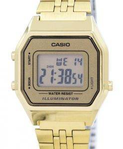 Montre Casio Digital Quartz en acier inoxydable illuminateur LA680WGA-9DF LA680WGA-9 féminines