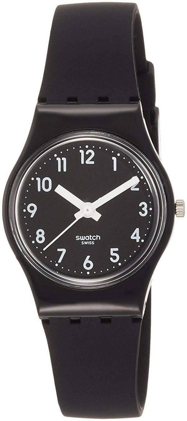 montre swatch originals lady black single anlog quartz. Black Bedroom Furniture Sets. Home Design Ideas