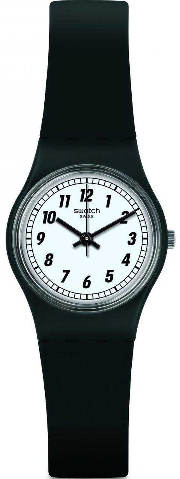 Swatch Originals quelque chose noir montre Quartz analogique LB184 féminin