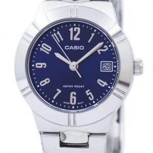 Montre Casio analogique Quartz cadran bleu LTP-1241D-2A2DF LTP-1241D-2 a 2 femmes
