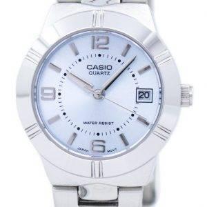Montre Casio Enticer Quartz analogique cadran bleu LTP-1241D-2ADF LTP-1241D-2 a féminin