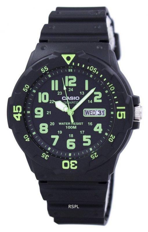 Montre Casio Quartz analogique cadran noir MRW-200H-3BVDF MRW-200H-3BV masculin