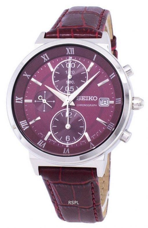 Montre Seiko chronographe Quartz SNDV37 SNDV37P1 SNDV37P féminin