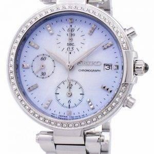 Montre Seiko chronographe Quartz diamant Accent SNDV39 SNDV39P1 SNDV39P féminin