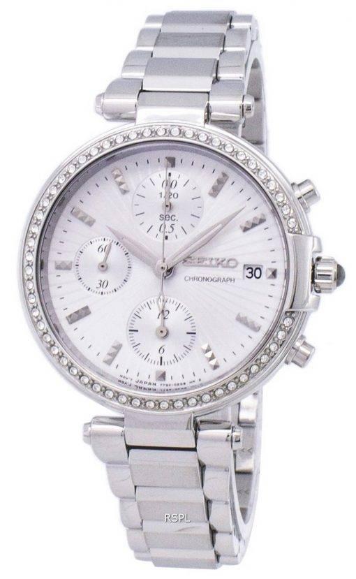 Montre Seiko chronographe Quartz diamant Accent SNDV41 SNDV41P1 SNDV41P féminin