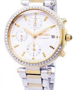 Montre Seiko chronographe Quartz diamant Accent SNDV42 SNDV42P1 SNDV42P féminin