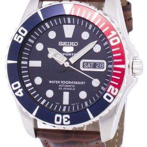 Seiko 5 Sports automatique Ratio en cuir brun SNZF15K1-LS7 hommes