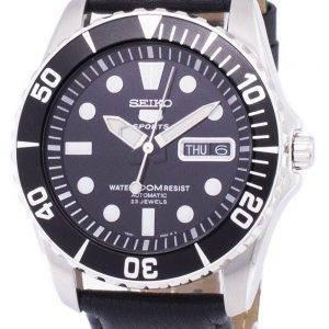 Seiko 5 Sports automatique Ratio cuir noir SNZF17K1-LS10 hommes