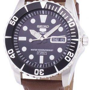 Seiko 5 Sports automatique Ratio cuir marron SNZF17K1-LS12 hommes