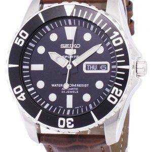 Seiko 5 Sports automatique Ratio cuir marron SNZF17K1-LS7 hommes