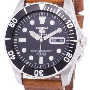 Seiko 5 Sports automatique Ratio cuir marron SNZF17K1-LS9 hommes