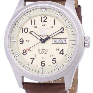 Seiko 5 Sports automatique Ratio en cuir brun SNZG07K1-LS12 hommes
