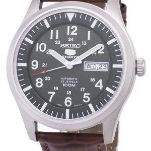Seiko 5 Sports automatique Ratio en cuir brun SNZG09K1-LS7 hommes