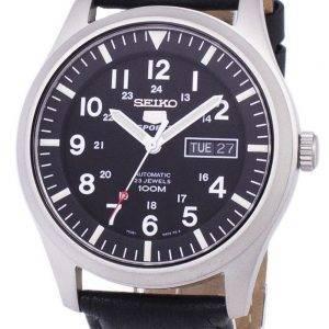 Seiko 5 Sports automatique Ratio cuir noir SNZG15K1-LS10 hommes
