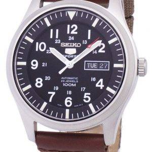 Seiko 5 Sports automatique toile sangle SNZG15K1-NS1 hommes