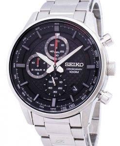 Montre Seiko Sport chronographe tachymètre Quartz SSB313 SSB313P1 SSB313P hommes
