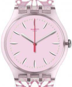 Montre Swatch Originals Fleurie analogique Quartz SUOP109 féminin