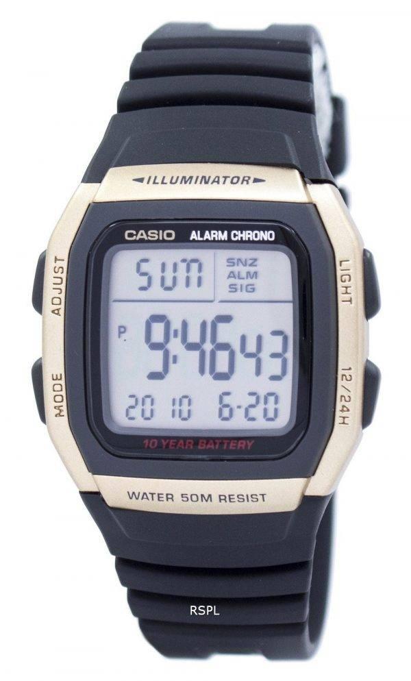 Jeunesse de Casio Illuminator Dual Time alarme Chrono W-96H-9AVDF W96H-9AVDF montre homme