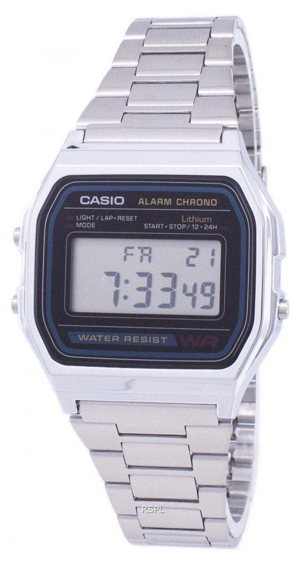 Casio Digital inox quotidienne alarme A158WA-1DF A158WA-1 montre homme