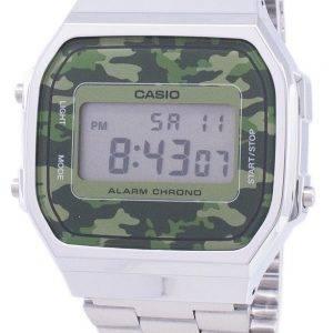 Casio rétro Digital Camouflage alarme Chrono A168WEC-3EF montre unisexe