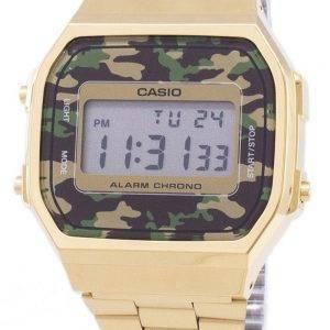 Casio rétro Digital Camouflage alarme Chrono A168WEGC-3EF montre unisexe