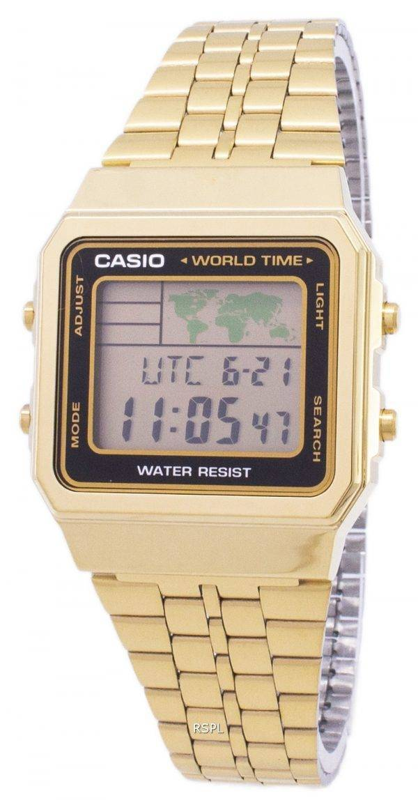 Casio Digital inox monde temps A500WGA-1DF A500WGA-1 montre homme