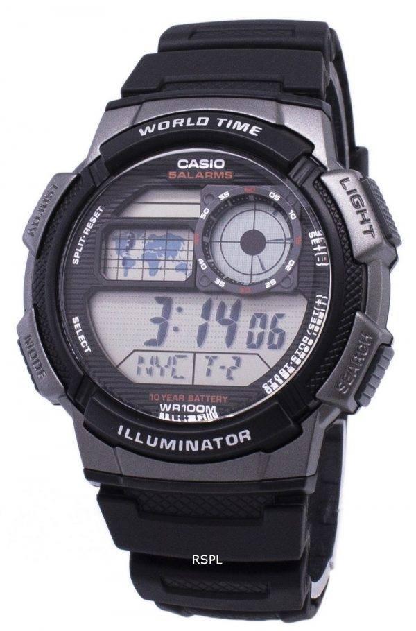 Jeunesse de Casio série digimonde temps AE-1000W-1BVDF AE-1000W-1BV montre homme