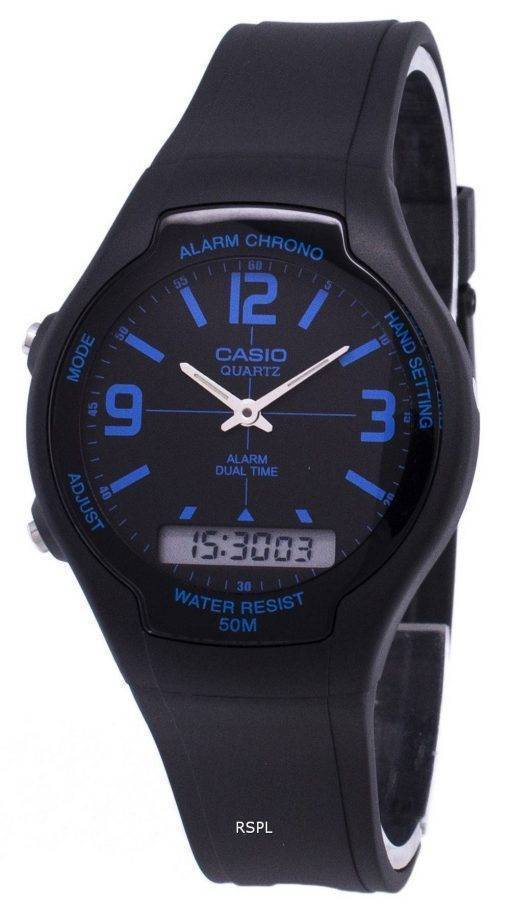 Analogique Casio Digital Dual Time AW-90H-2BVDF AW-90H-2BV montre homme
