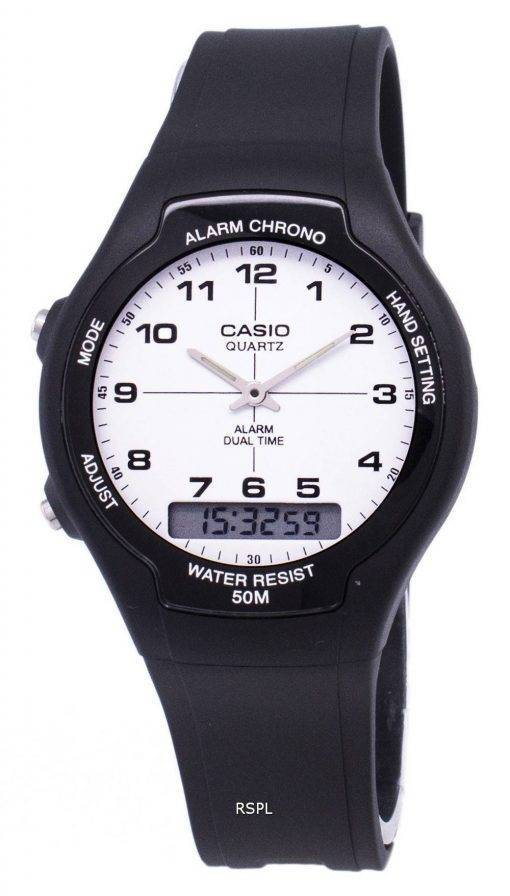 Analogique Casio Digital Dual Time AW-90H-7BVDF AW-90H-7BV montre homme