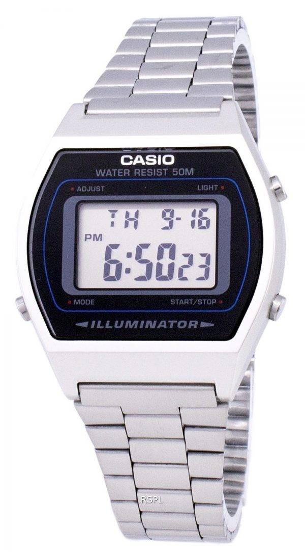 Montre Casio Digital Quartz en acier inoxydable illuminateur B640WD-1AVDF B640WD-1AV homme