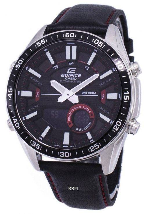 Montre Casio Edifice alarme analogique Digital Quartz EFVC100L-1AV EFV-C100L-1AV homme