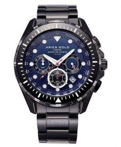 Aries or inspirer montre Atlantique Chronographe Quartz G 7002 BK-BU homme