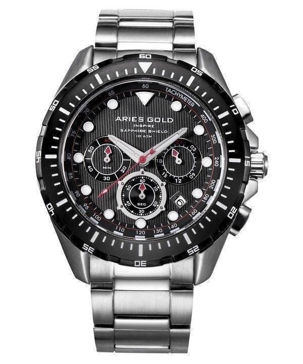 Aries or inspirer montre Atlantique Chronographe Quartz G 7002 SBK-BK homme
