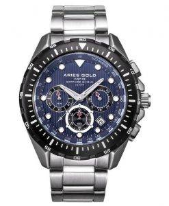 Aries or inspirer montre Atlantique Chronographe Quartz G 7002 SBK-BU homme