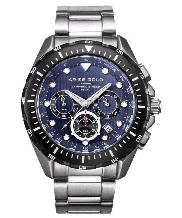 Aries or inspirer montre Atlantique Chronographe Quartz G 7002 SBK-BU homme