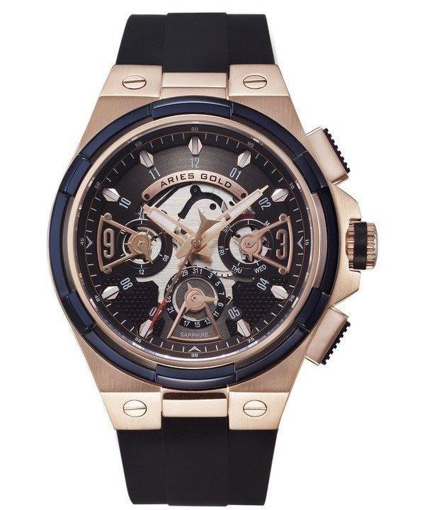 Aries or inspirer montre foudre Quartz G 7003 2TRB-BKRG homme