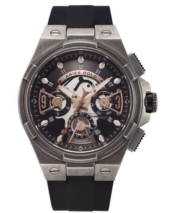Aries or inspirer montre foudre Quartz G 7003 AS-BKRG homme