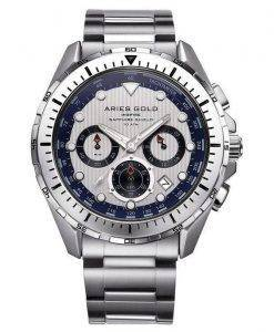 Aries or inspirer Atlantique Chronographe Quartz G 7002 S-S montre homme