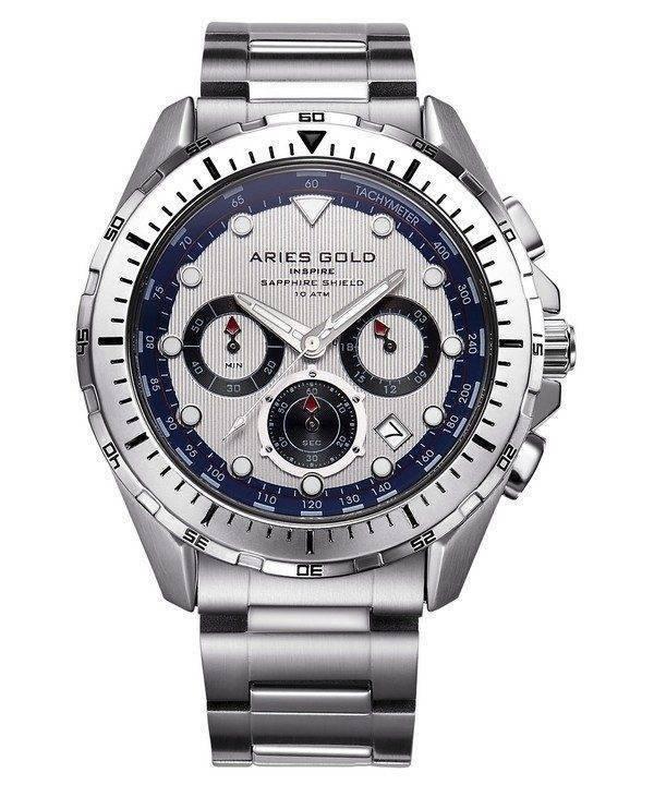 Aries or inspirer Atlantique Chronographe Quartz G 7002 S-S montre homme