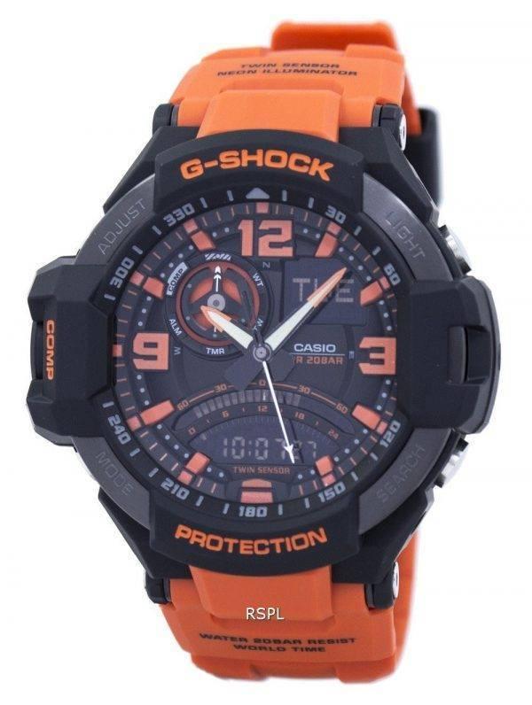 Casio G-Shock Gavitymaster Neon illuminateur analogique-numérique GA-1000-4 a montre homme