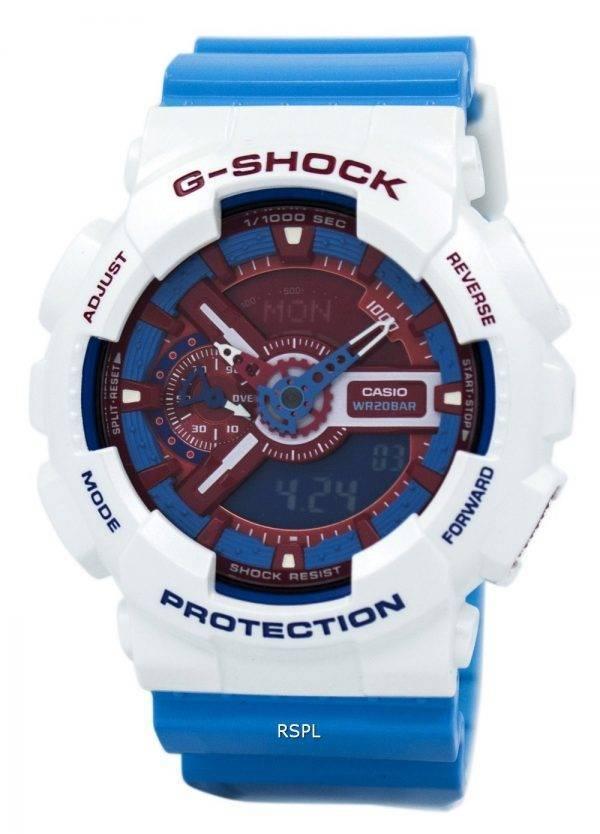 Casio G-Shock Red & Blue Montre analogique Numérique GA-110AC-7A Hommes