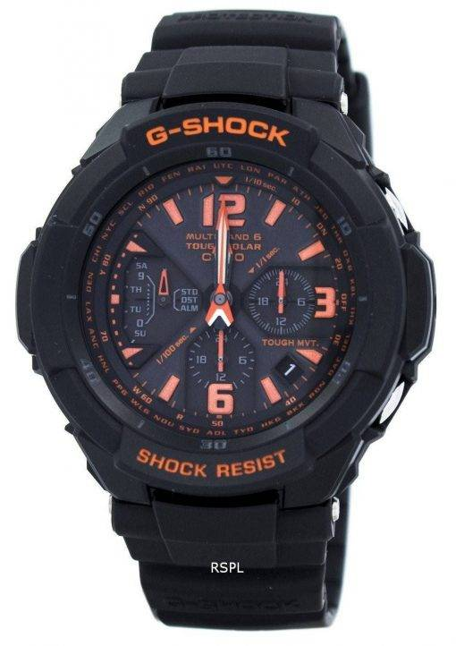 Casio G-Shock Multi Band 6 Tough Solar World Time GW-3000 b-1 a montre homme