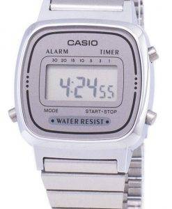 Montre Casio Digital inox alarme minuteur LA670WA-7DF LA670WA-7 femmes